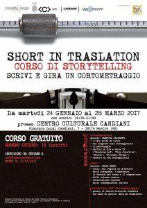SHORT IN TRASLATION – CORSO DI STORYTELLING