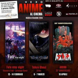 Torna NEXO ANIME AL CINEMA- Stagione 2018 con tre nuovi appuntamenti!