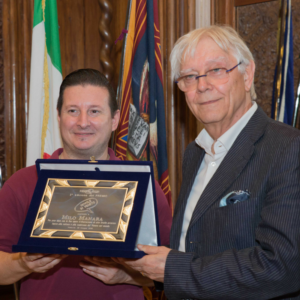 A palazzo Ferro Fini, cerimonia di consegna del Premio 'Nuvole in Veneto' a Milo Manara