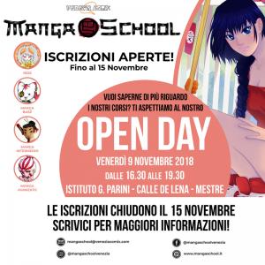 Open Day MangaSchool a.a. 2018-2019