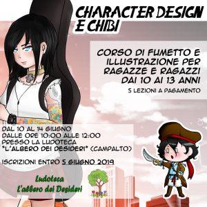 """Laboratorio """"Character design e chibi"""" a Campalto!"""